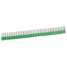 Наконечник с изолированным фланцем Starfix - для кабелей сечением 0,34 мм² - зеленый