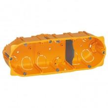 Batibox Коробка монтажная для сухих перегородок 3-ная, 6-8-мод., глубина 40 мм