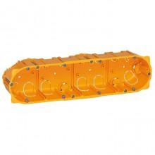 Batibox Коробка монтажная для сухих перегородок 4-ная, 10-мод., глубина 50 мм