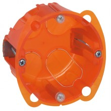 Batibox Коробка монтажная повышенной прочности 1-ная, диаметр 67 мм, глубина 40 мм, оранжевая