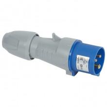 Вилка мобильная - 16А - 2К+З - 230 В - IP 44