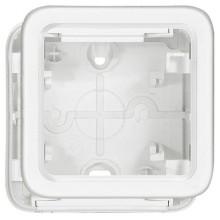 Plexo55 Artic Коробка 1-ная для накладного монтажа, белая