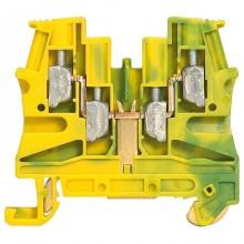 Клемма для заземления с винтовым зажимом Legrand Viking 3 4мм², желто-зеленый, 037179