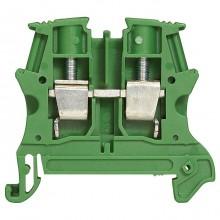 Клемма для заземления с винтовым зажимом Legrand Viking 3 4мм², зеленый, 037177
