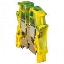Клемма для заземления с винтовым зажимом Legrand Viking 3 35мм², желто-зеленый, 037175