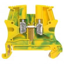 Клемма для заземления с винтовым зажимом Legrand Viking 3 6мм², желто-зеленый, 037172