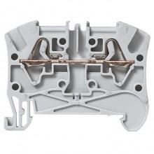 Клемма пружинная проходная Legrand Viking 3 4мм², серый, 037260