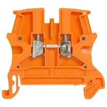 Проходная клемма с винтовым зажимом Legrand Viking 3 2,5мм², оранжевый, 037120
