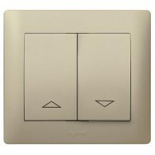 Клавиша для жалюзийного выключателя Legrand GALEA LIFE, титан, 771414
