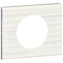 Рамка 1 пост Legrand CELIANE, corian белый рельеф, 069011