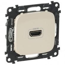 Розетка HDMI Legrand VALENA ALLURE, жемчужный, 754716