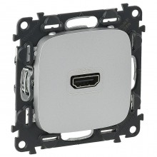 Розетка HDMI Legrand VALENA ALLURE, алюминий, 754717