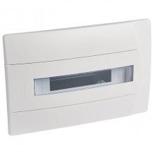 Распределительный шкаф Legrand Practibox 12 мод., IP40, встраиваемый, пластик, белая дверь, с клеммами, 601117