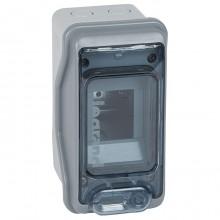 Распределительный шкаф Legrand Plexo³, 2 мод., IP65, навесной, пластик, дверь, 001902