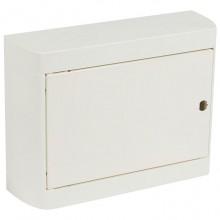 Распределительный шкаф Legrand Nedbox, 12 мод., IP40, навесной, пластик, дверь, с клеммами, 601256