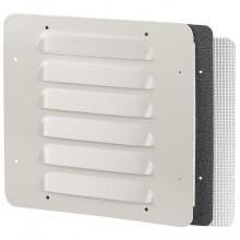 Металлическая вентиляционная решётка - IP32 - IK10 - RAL 7032 - 138 x 138 мм