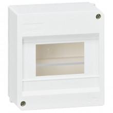 Распределительный шкаф Legrand Mini S, 6 мод., IP30, навесной, пластик, дверь, 001358
