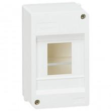 Распределительный шкаф Legrand Mini S, 4 мод., IP30, навесной, пластик, дверь, 001357