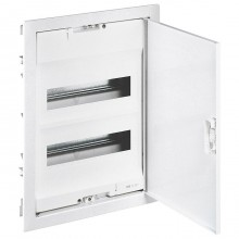 Распределительный шкаф Legrand Nedbox 24 мод., IP40, встраиваемый, сталь, бежевая дверь, с клеммами, 001432