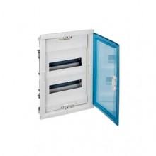 Распределительный шкаф Legrand Nedbox 48 мод., IP40, встраиваемый, пластик, прозрачная синяя дверь, с клеммами, 001424