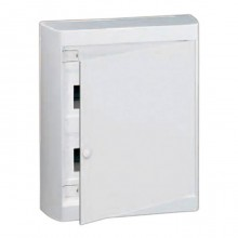 Распределительный шкаф Legrand Nedbox, 24 мод., IP40, навесной, пластик, белая дверь, с клеммами, 601237