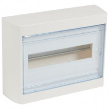Распределительный шкаф Legrand Nedbox, 12 мод., IP40, навесной, пластик, прозрачная дверь, с клеммами, 601246