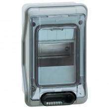 Распределительный шкаф Legrand Plexo³, 4 мод., IP65, навесной, пластик, дверь, с клеммами, 601974