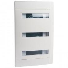 Распределительный шкаф Legrand Practibox 36 мод., IP40, встраиваемый, пластик, белая дверь, с клеммами, 601119
