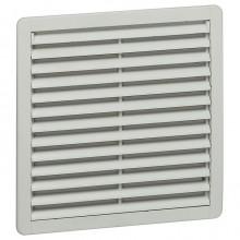Вентилятор с пластмассовой решеткой - 120/160 м³/ч - 230 В - 50/60 Гц - RAL 7035 - 250х250 мм
