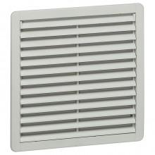 Вентилятор с пластмассовой решеткой - 240/450 м³/ч - 230 В - 50/60 Гц - RAL 7035 - 250х250 мм