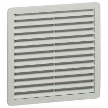 Вентилятор с пластмассовой решеткой - 550/1200 м³/ч - 230 В - 50/60 Гц - RAL 7035 - 325х325 мм