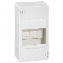 Распределительный шкаф Legrand Mini S, 4 мод., IP30, навесной, пластик, дверь, 001304