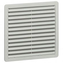 Вентилятор с пластмассовой решеткой - 40/160 м³/ч - 230 В - 50/60 Гц - RAL 7035 - 150х150 мм
