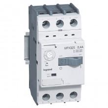 Силовой автомат для защиты двигателя Legrand MPX³ 0.4А 3P, термомагнитный расцепитель, 417302
