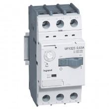 Силовой автомат для защиты двигателя Legrand MPX³ 0.63А 3P, термомагнитный расцепитель, 417303