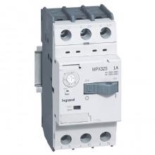 Силовой автомат для защиты двигателя Legrand MPX³ 1А 3P, термомагнитный расцепитель, 417304
