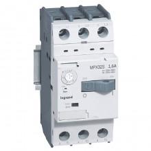 Силовой автомат для защиты двигателя Legrand MPX³ 1.6А 3P, термомагнитный расцепитель, 417305