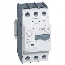 Силовой автомат для защиты двигателя Legrand MPX³ 4А 3P, термомагнитный расцепитель, 417307