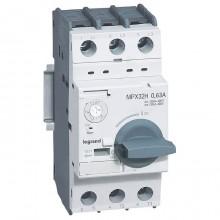 Силовой автомат для защиты двигателя Legrand MPX³ 0.63А 3P, термомагнитный расцепитель, 417323