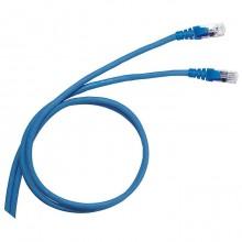 Коммутационный шнур RJ 45 - категория 6 - F/UTP - PVC - экранированный - 2 м - голубой