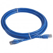 Коммутационный шнур RJ 45 - категория 6 - U/UTP - PVC - неэкранированный - 3 м - голубой