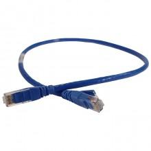 Патч-корд U/UTP категория 6 PVC 0,5 м синий