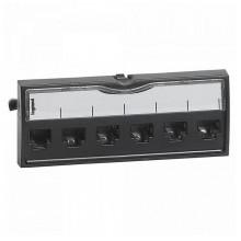Патч-панель укомплектованная - 19 - 1U - категория 6 - UTP - 8 контактов - LCS²