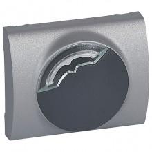 Накладка на термостат Legrand GALEA LIFE, алюминий, 771353