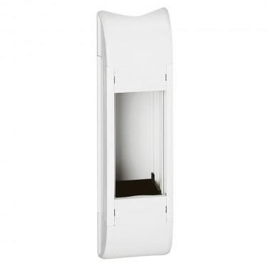 Пустой розеточный блок для комплектования, 4 модуля, длина 215 мм, белый, артикул:031065