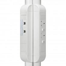 Пустой розеточный блок для комплектования, 8 модулей, длина 325 мм, белый, артикул:031066