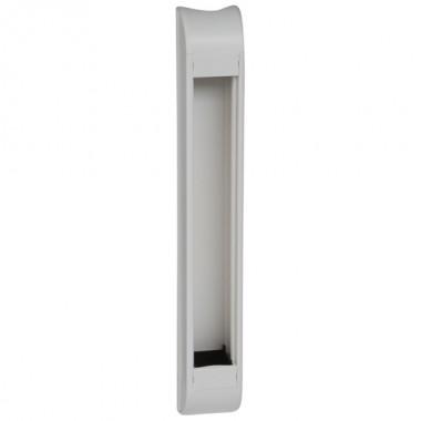 Пустой розеточный блок для комплектования, 12 модулей, длина 415 мм, белый, артикул:031067