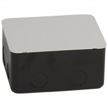 Монтажная коробка для выдвижного розеточного блока - 4 модуля - металл, Артикул:054001