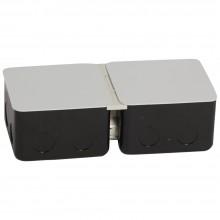 Монтажная коробка для выдвижного розеточного блока - 6 модулей - металл, Артикул:054002
