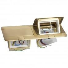 Выдвижной розеточный блок - неукомплектованный - IP 40 - 6 модулей - латунь, Артикул:054017